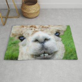 Alpaca Smile Teeth Rug
