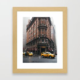 Snow showers in Financial District Framed Art Print