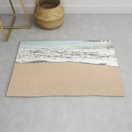 Wave Foam // California Ocean Pier Sandy Beaches Surf Country Pacific West Coast Photography Rug