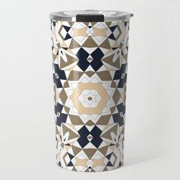 Mandala grey and beige Travel Mug