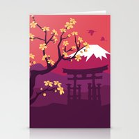 japan Stationery Cards featuring Japan by Marko Stupic