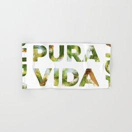 Pura Vida Costa Rica Palm Trees Hand & Bath Towel