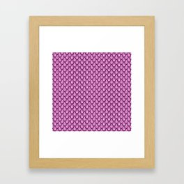 Gleaming Pink Metal Scalloped Scale Pattern Framed Art Print
