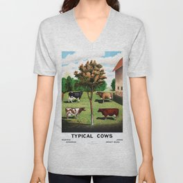 Typical Cows Unisex V-Neck