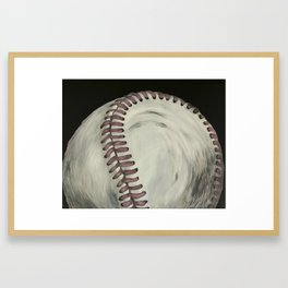 Vintage Baseball Art Framed Art Print