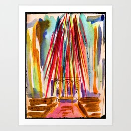 Grace cathedral lights Art Print