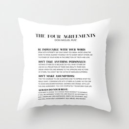 the four agreements Throw Pillow