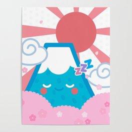 Sleepy fuji Poster