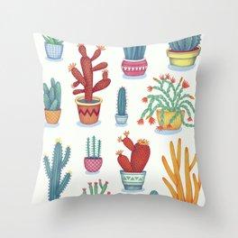 Cactus Poster Throw Pillow
