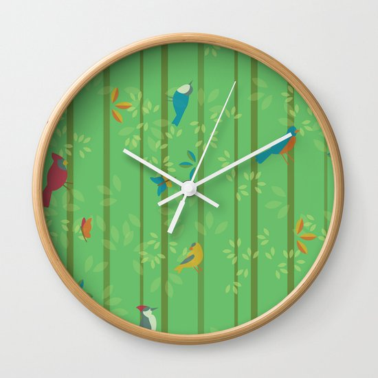 Hello Birdies Wall Clock