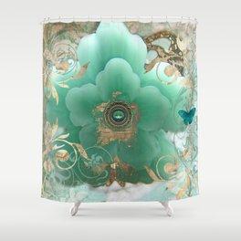 Gilded Sakura Shower Curtain
