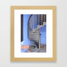 Blue Mansion in Penang, Malaysia (2013b) Framed Art Print