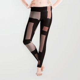 Pattern of Squares in Brown Leggings
