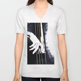 Jazz Bass Poster Unisex V-Neck