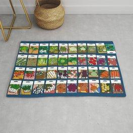 Veggie Seeds Pattern Rug