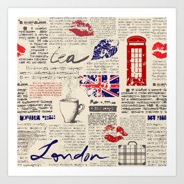 British newspaper style Kunstdrucke