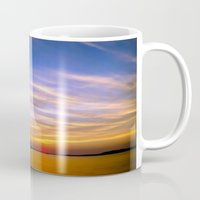 georgia Mugs featuring Georgia Sunset by Amy Rowland