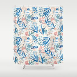 Colorful loose floral pattern Shower Curtain