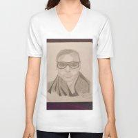 jared leto V-neck T-shirts featuring Shannon Leto. by TheArtOfFaithAsylum