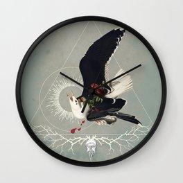 Meme les oiseaux meurent /2 Wall Clock