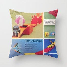 1971 Hot Wheels Italians Dealer's Catalog Redline Show Store Poster Throw Pillow