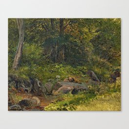 RUMP, GODTFERD Hilleroed 1816 - 1880 -   Inside a Forest Canvas Print