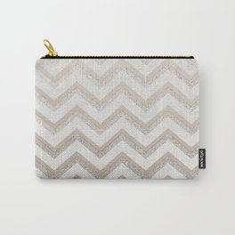 NUDE CHEVRON Carry-All Pouch