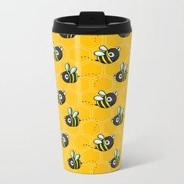 Bumble Bees Metal Travel Mug