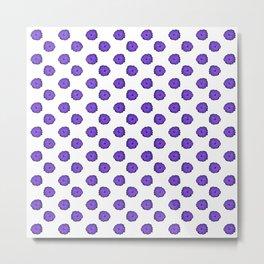 Purple flowers on white Metal Print