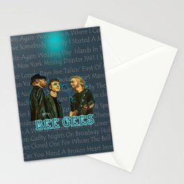 Bee Gee's Poster Stationery Cards