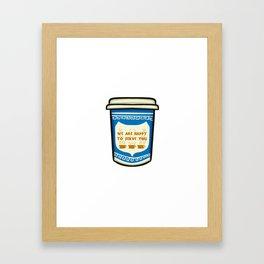 NYC Coffee Cup Framed Art Print