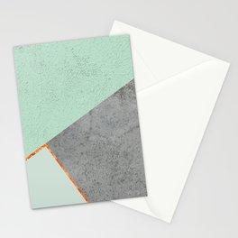 MINT COPPER GRAY GEOMETRIC PATTERN Stationery Cards