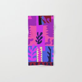 Matisse Inspired Colorful Collage #4 Hand & Bath Towel