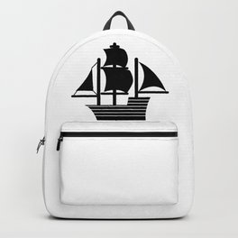Pirate Ship Boat Backpack
