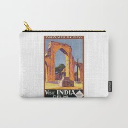 Visit Delhi Travel Poster Carry-All Pouch