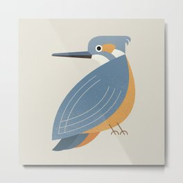 Whimsy Blue-eared Kingfisher Metal Print