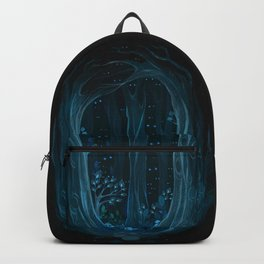 Walk into the woods. Backpack