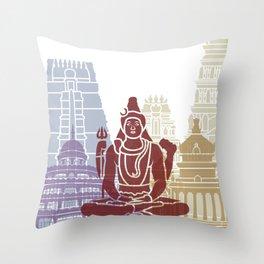 Bangalore skyline poster Throw Pillow