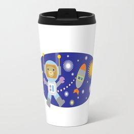 Space Chimp Astronaut Monkey Travel Mug