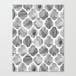 Black and White Tile Print Canvas Print
