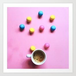 Bubble Gum Coffee Art Print