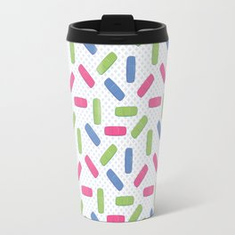 Pink, green and blue bandages Travel Mug