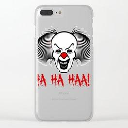 Creepy Mask Ha Ha Scary Clown  Clear iPhone Case