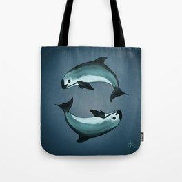 Spiraling ~ Vaquita Porpoise art by Amber Marine (Copyright 2015) Tote Bag