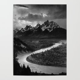 Ansel Adams - The Tetons and Snake River Poster