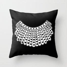 RBG Collar, Ruth Bader Ginsburg Tribute Throw Pillow