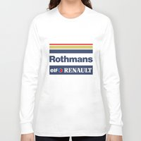 senna Long Sleeve T-shirts featuring Williams F1 Rothmans Ayrton Senna by Krakenspirit