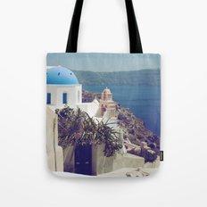 Santorini Door VI Tote Bag