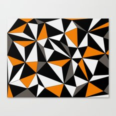 Geo - orange, gray, black and white. Canvas Print