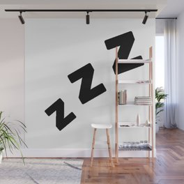 Zzzs in Black Wall Mural